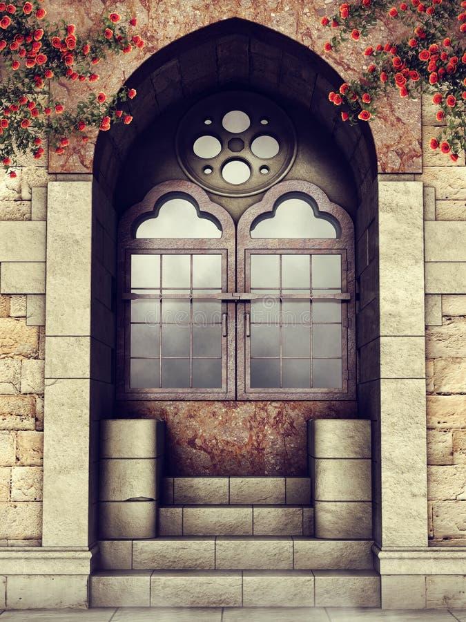 Free Vintage Door With Rose Vines Stock Photos - 108965723