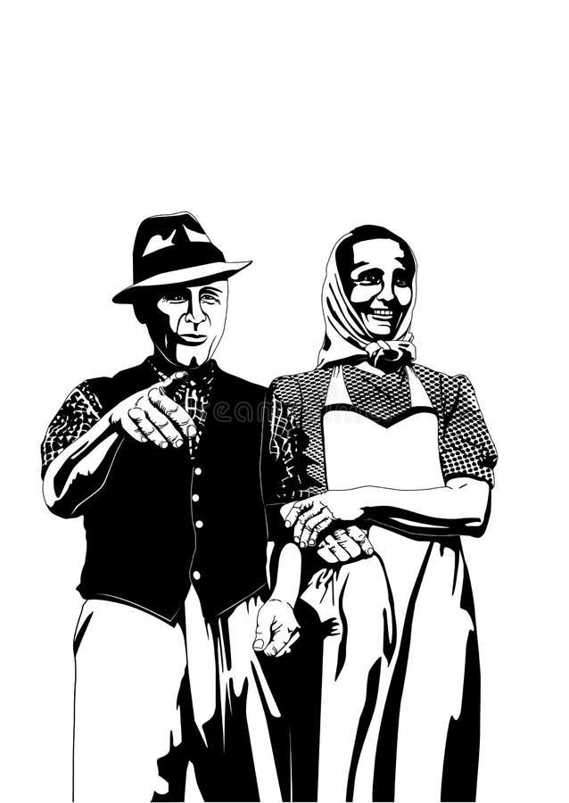 Vintage dos fazendeiros ilustração do vetor