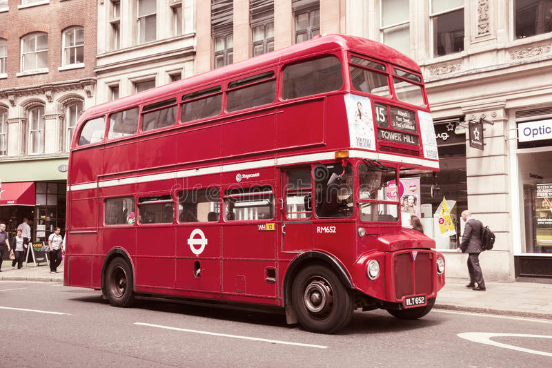 Vintage double decker bus royalty free stock photo