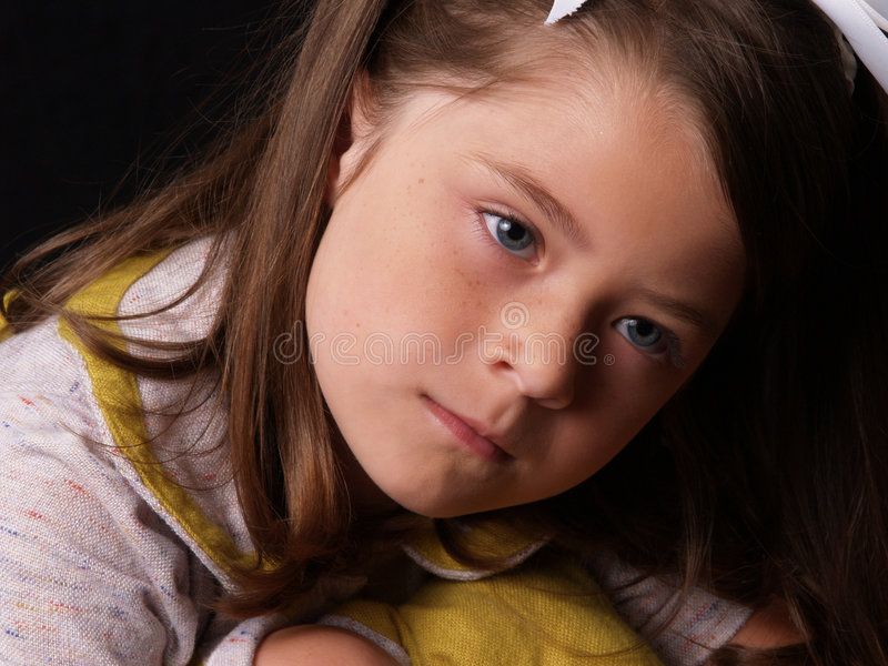 Portrait of a young Girl stock image