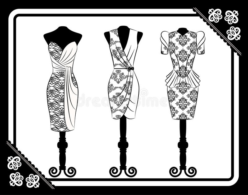 Vintage dress stock illustration