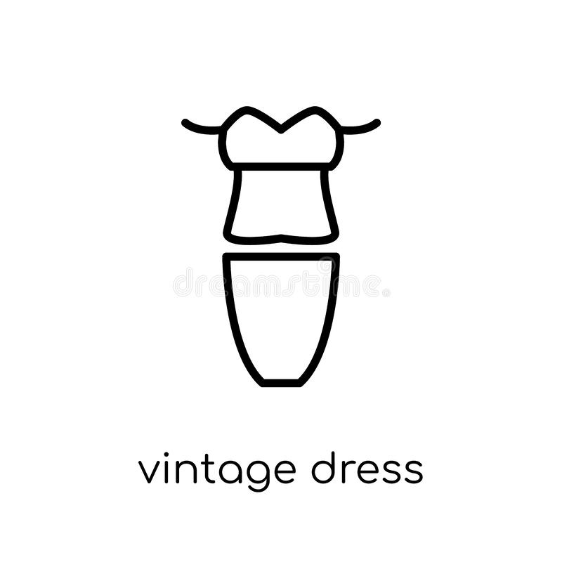vintage dress icon from Vintage dress collection. vector illustration