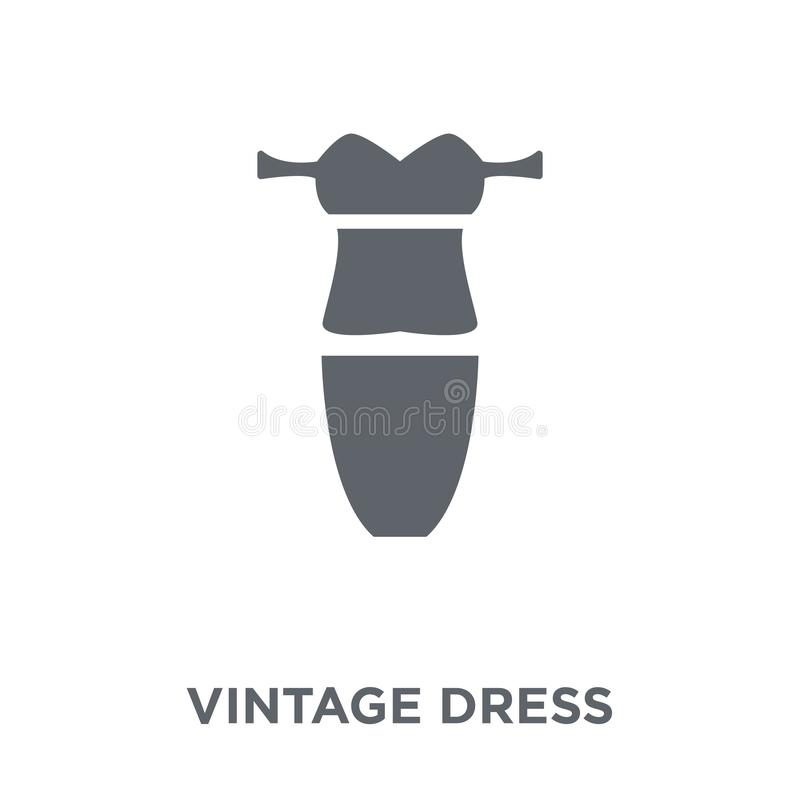 vintage dress icon from Vintage dress collection. stock illustration