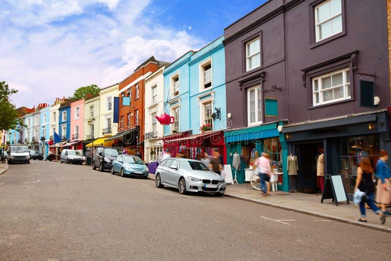 Vintage du marché de route de Londres Portobello magnifiant au R-U images libres de droits