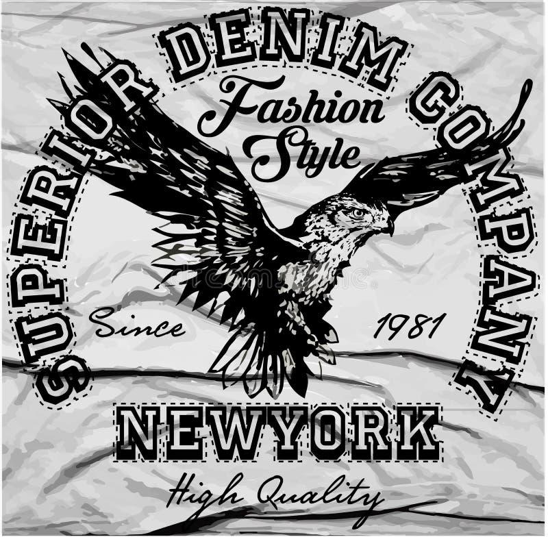 Vintage Eagle Graphic referente à cultura norte-americana ilustração stock