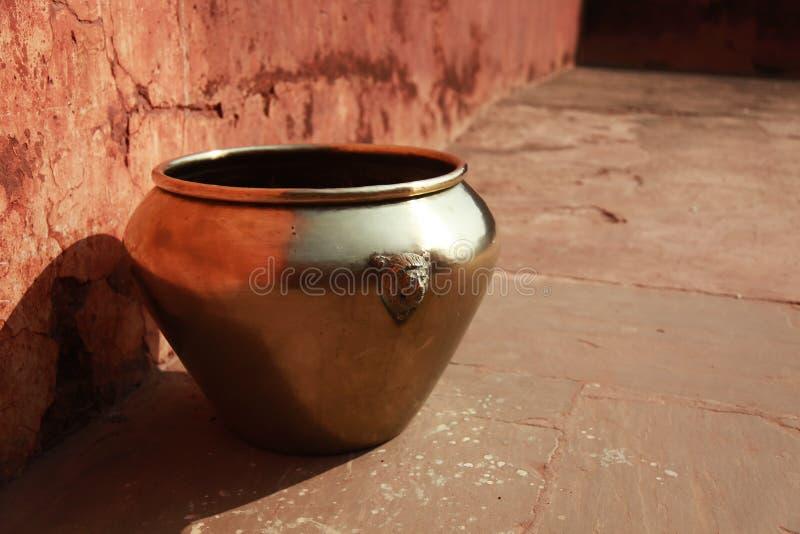 Download Vintage East Indian Brass Pot Stock Image - Image of stone, vase: 14665189