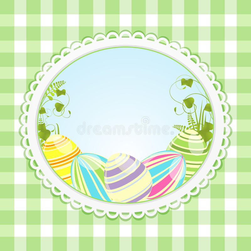 Download Vintage Easter Background And Ginghaml Stock Vector - Image: 22945021