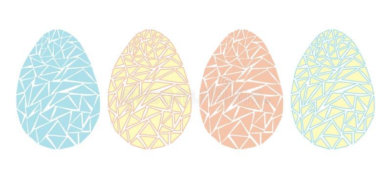 Vintage Easter eggs spring season vector isolated illustration stock photo