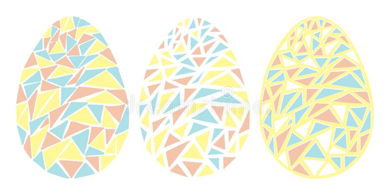 Vintage Easter eggs spring season vector isolated illustration stock image