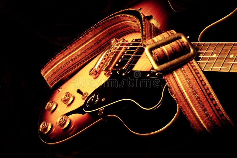 Vintage Electric Guitar stock image