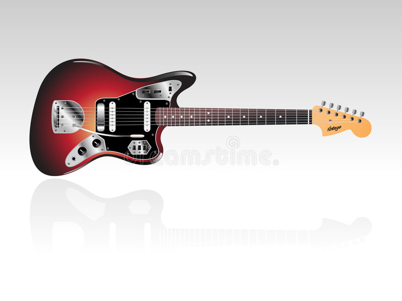 Vintage Electric Guitar Stock Photography