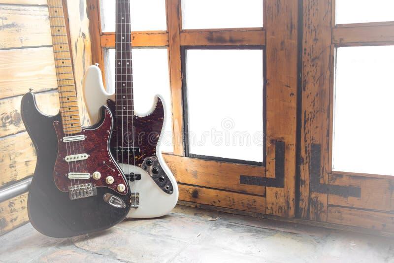 Vintage Electric guitars stock image