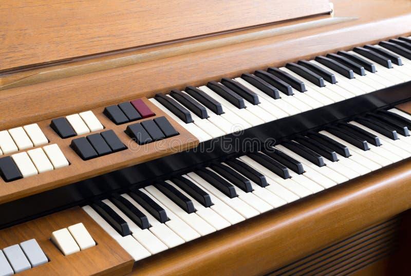 Vintage electric organ royalty free stock photo