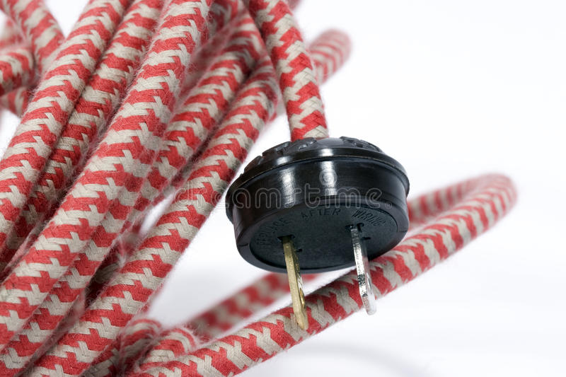Vintage Electrical Wire & Plug Royalty Free Stock Photo