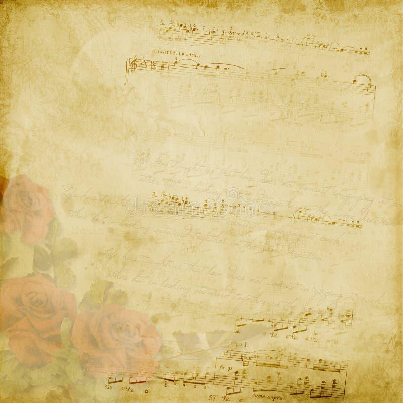 Vintage elegant background with rose royalty free illustration