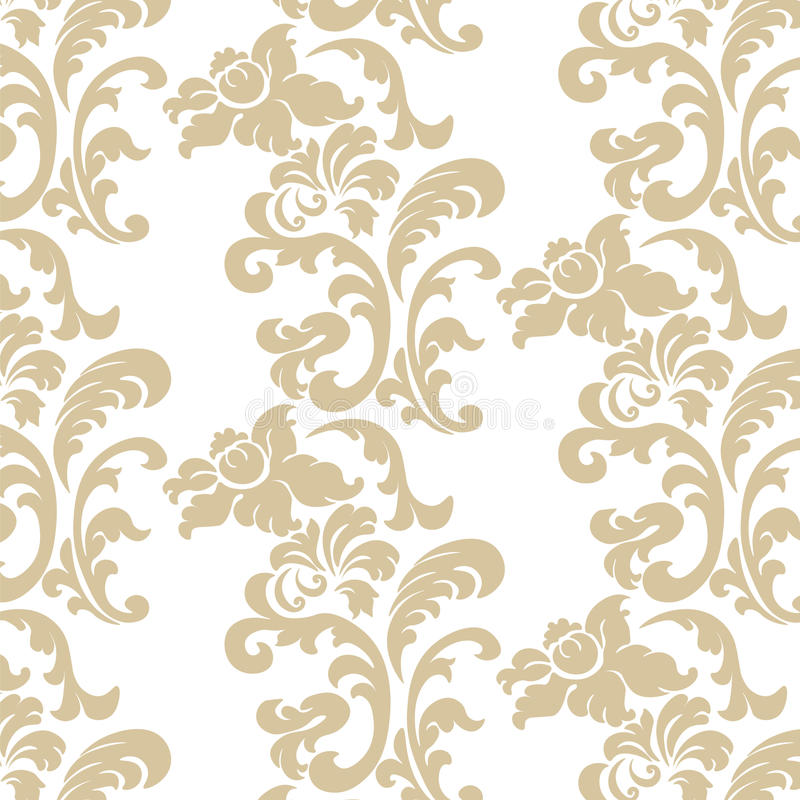 Vintage Elegant Lily Flower Ornament Pattern Stock Vector