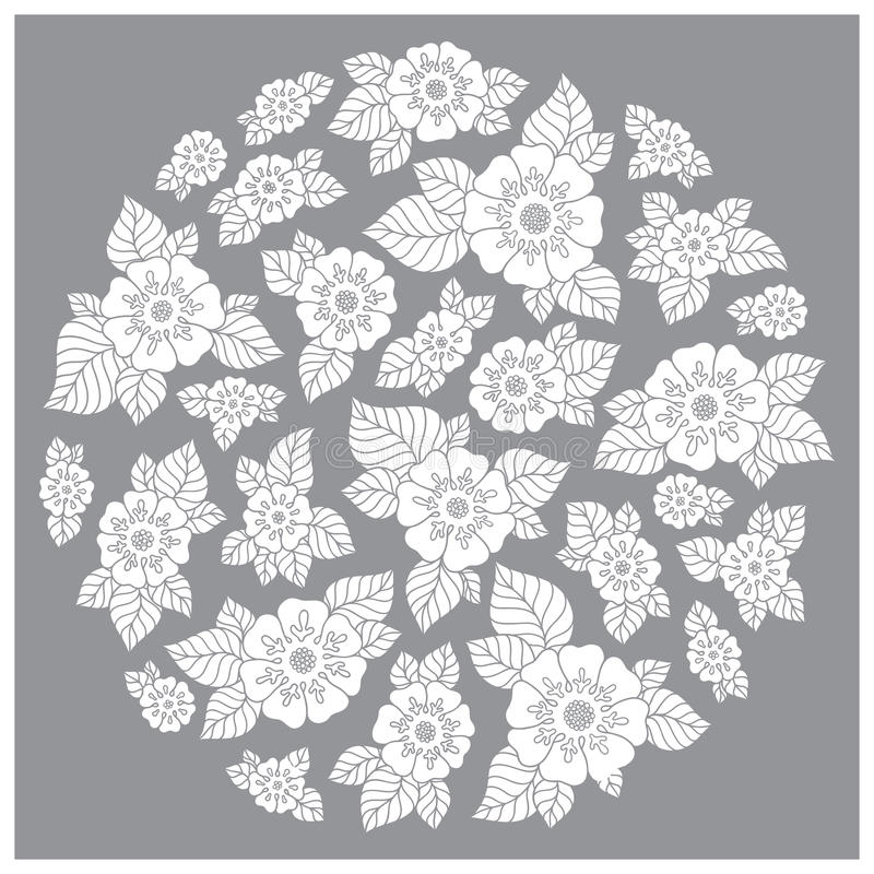Download Vintage Elegant Raster Background With A Bouquet Of Flowers Stock Vector