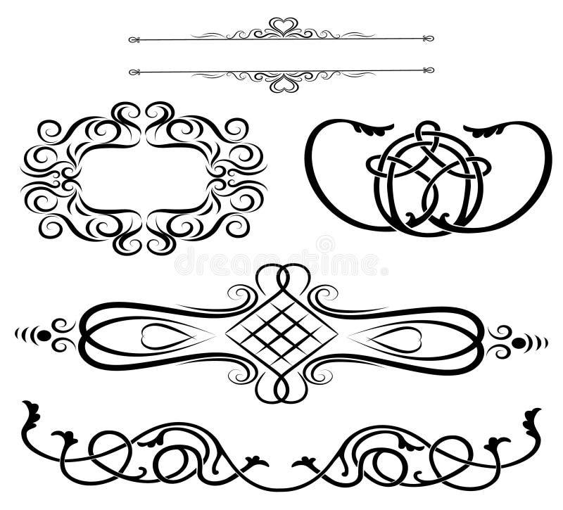 Vintage elements Vignettes Ornaments royalty free illustration