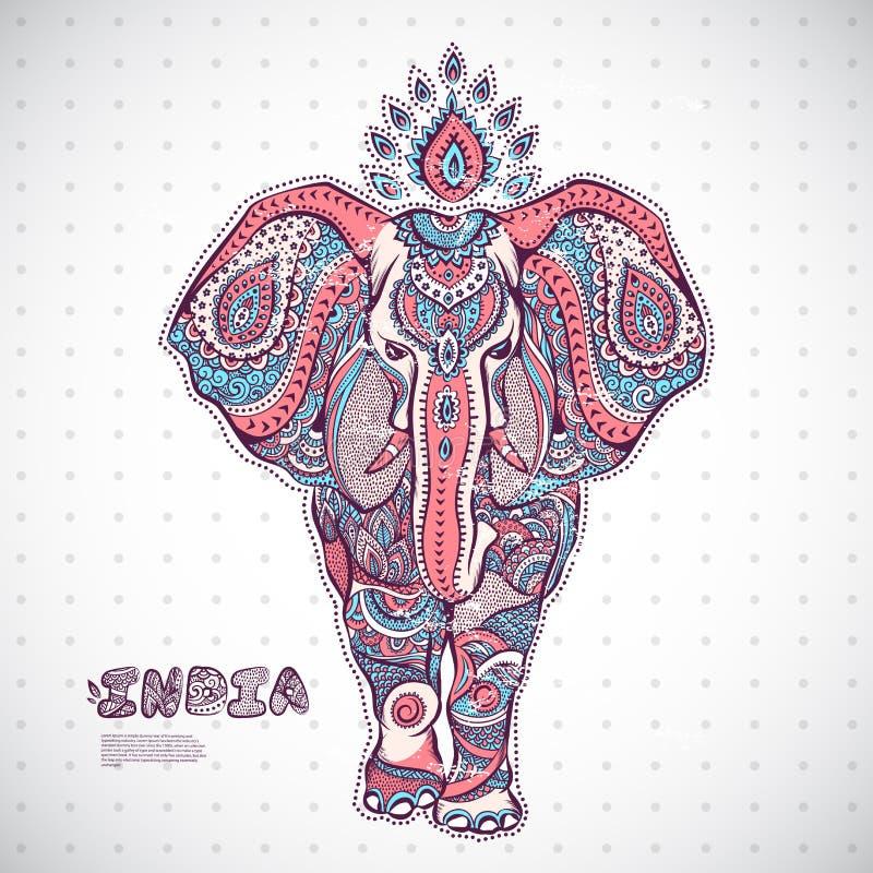 Vintage elephant illustration royalty free illustration