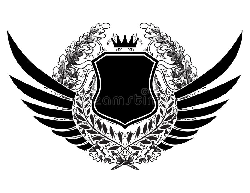 Download Vintage emblem stock illustration. Image of elegant, fake - 25388481