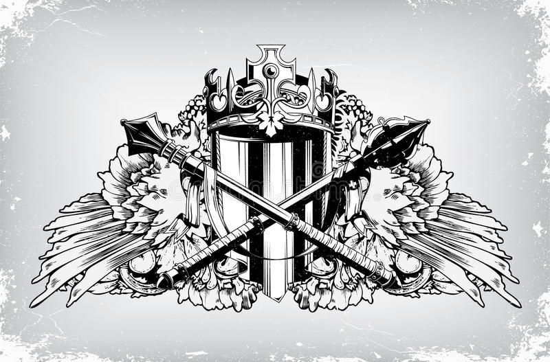 Vintage Emblem With Crest Royalty Free Stock Image