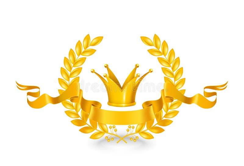 Download Vintage emblem, gold stock vector. Illustration of element - 24582494