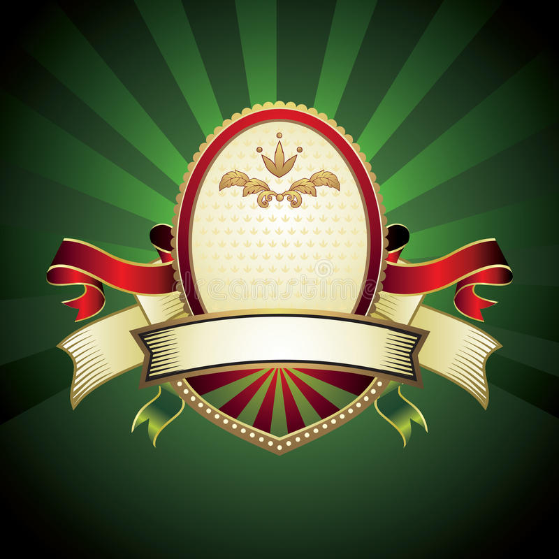 Vintage emblem on green