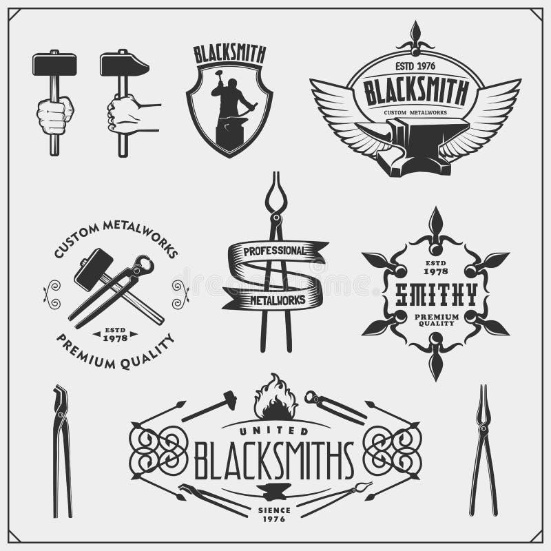 Blacksmith Vintage Emblems:  Blacksmith Stock Illustrations 4,086 Blacksmith Stock