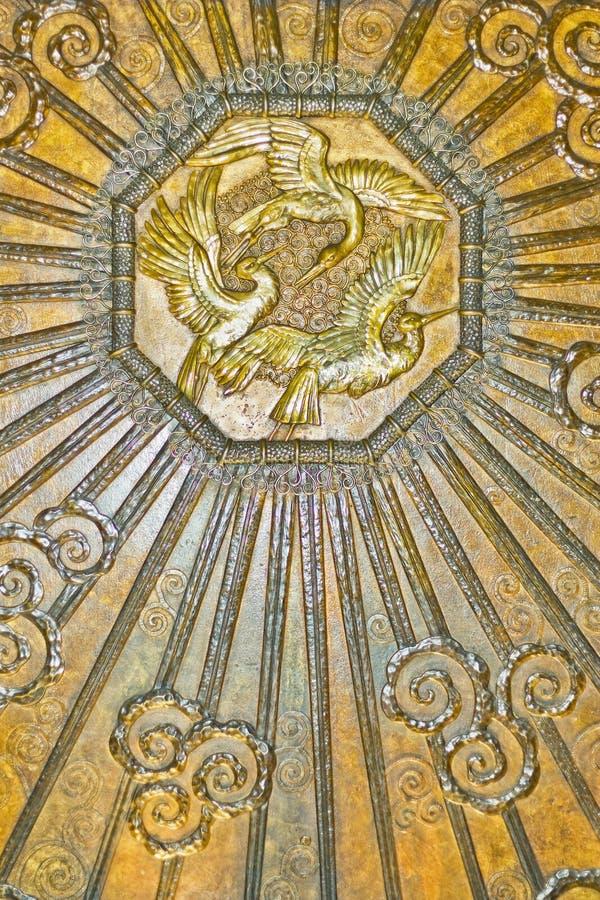 Download Art-deco embossed brass stock photo. Image of relief - 18883660