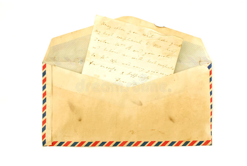 Vintage envelope royalty free stock photography