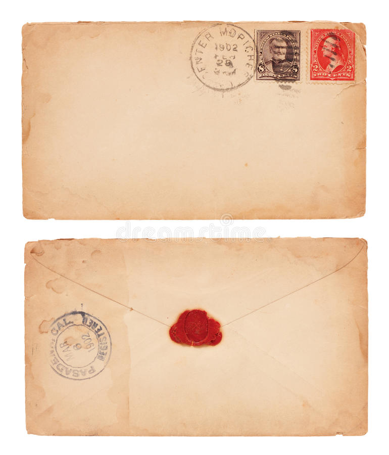Download Vintage Envelope stock photo. Image of stained, communication - 24777932