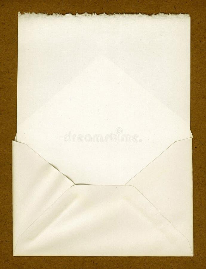 Vintage Envelope. This is vintage torn edge paper in an old envelope stock images
