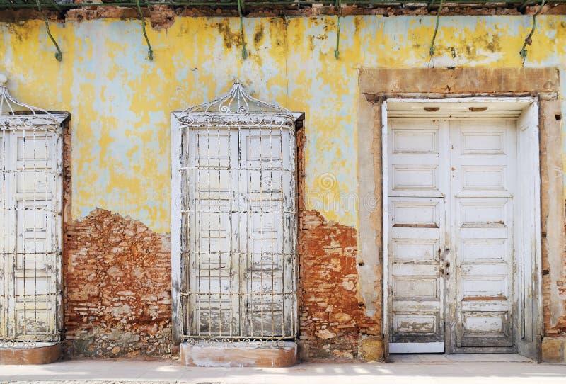 Download Vintage Eroded Facade In Trinidad, Cuba Stock Image - Image: 11767945