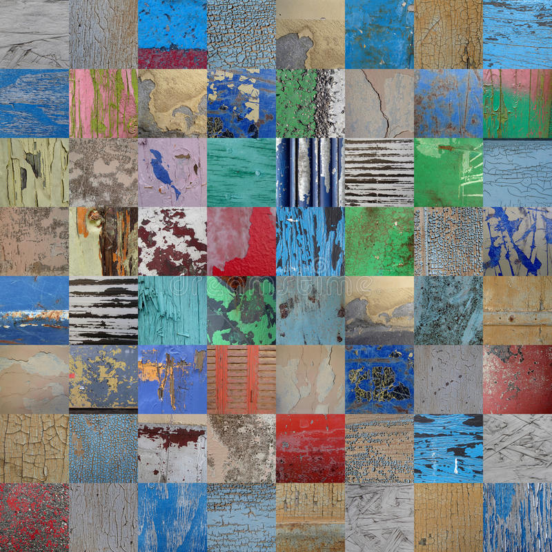 Vintage et patchwork peint par grunge photographie stock libre de droits