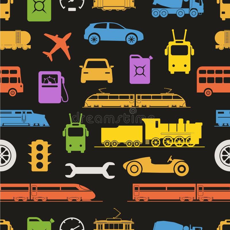 Vintage et silhouettes modernes de couleur de véhicule illustration stock
