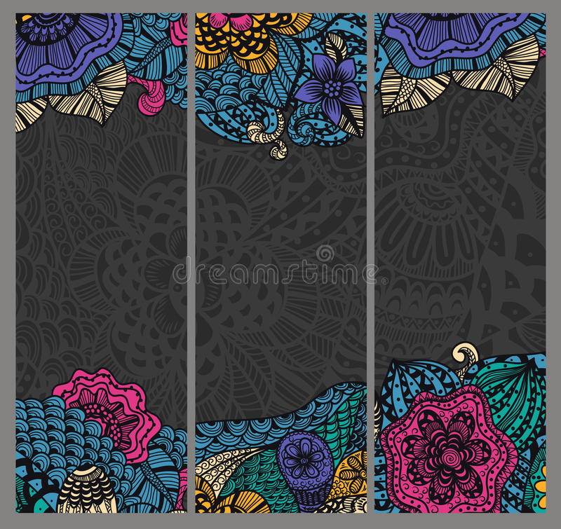 Free Vintage Ethnic Banners Royalty Free Stock Photos - 35461648