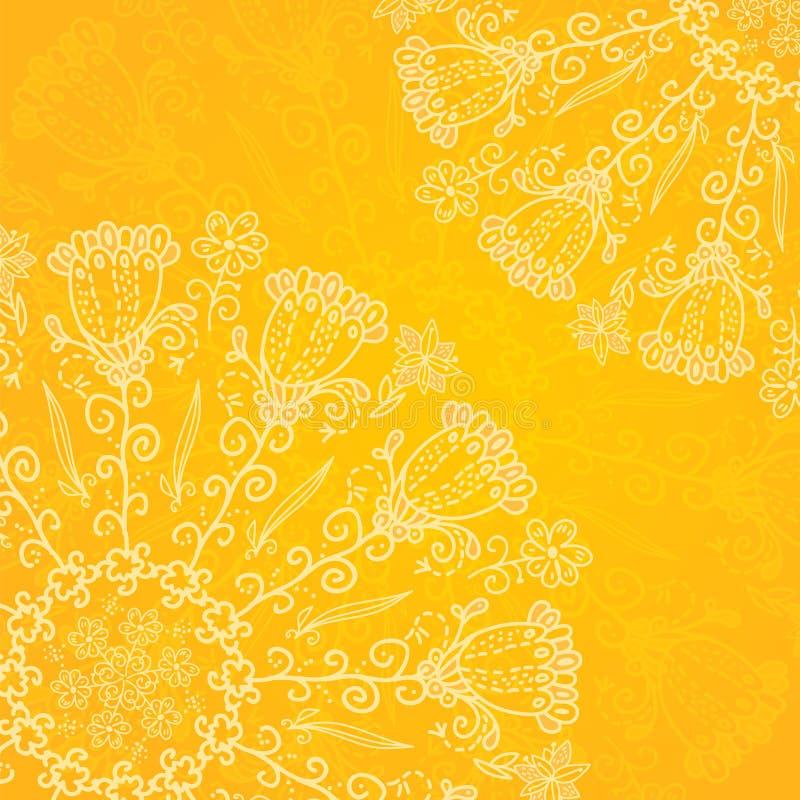 Vintage ethnic vector ornament orange background