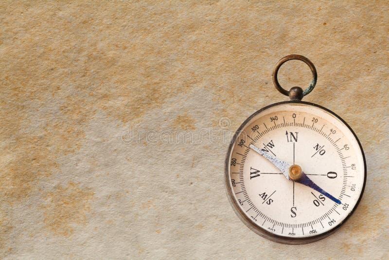 Vintage exploration compass, navigator. royalty free stock image