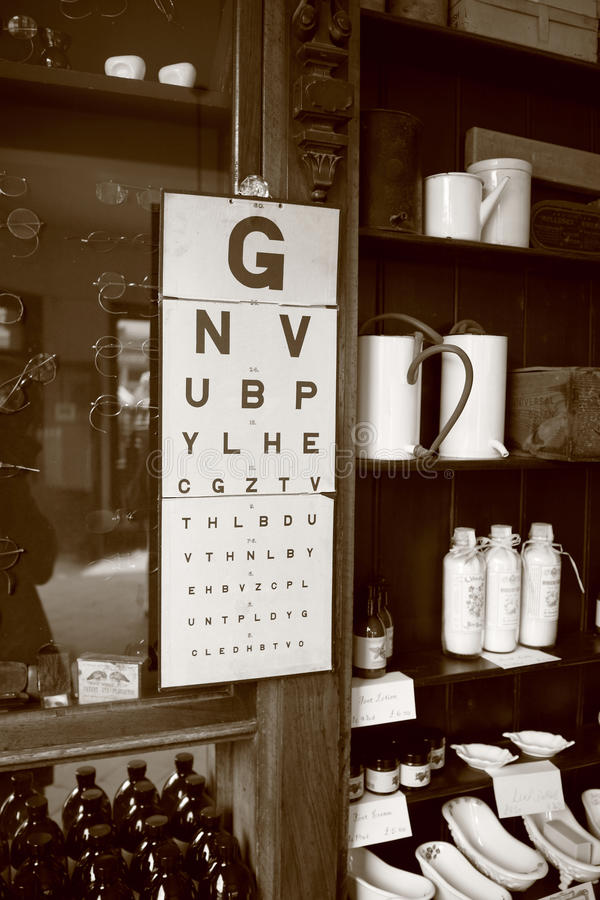 Vintage eye chart royalty free stock photography