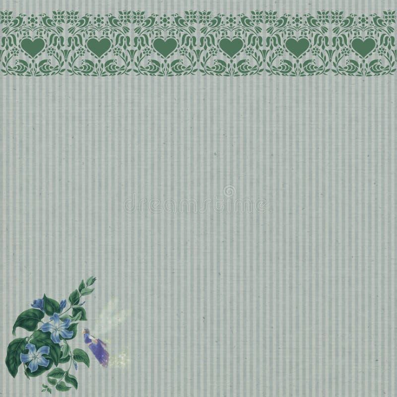 Download Vintage Fairy Scrapbook Background Stock Illustration - Illustration of beautiful, leaf: 25915701
