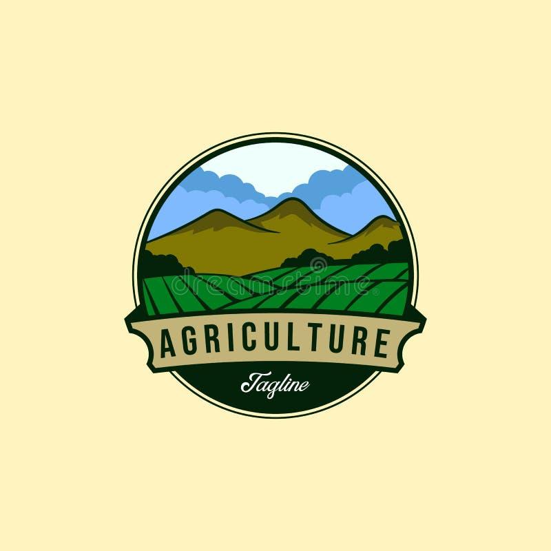 Vintage farm or agriculture logo designs royalty free illustration