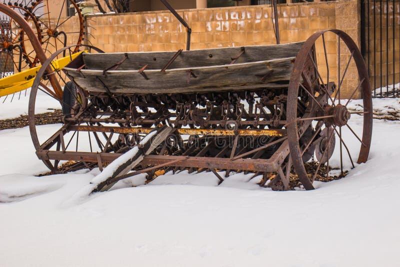Vintage Farm Machinery stock photo