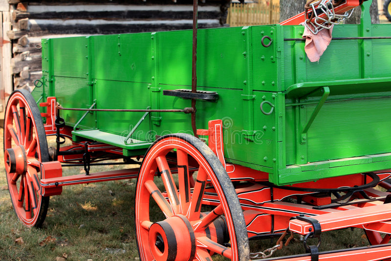 Vintage farm wagon royalty free stock image