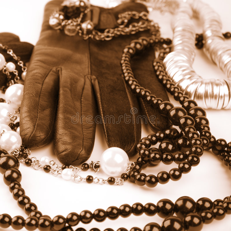 Vintage fashion. Accessories toned image stock photography