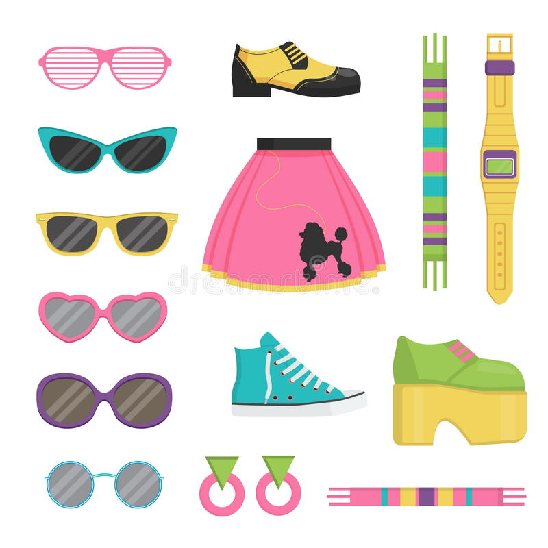 Free Vintage Fashion Accessories And Outfit Set Royalty Free Stock Images - 76522399