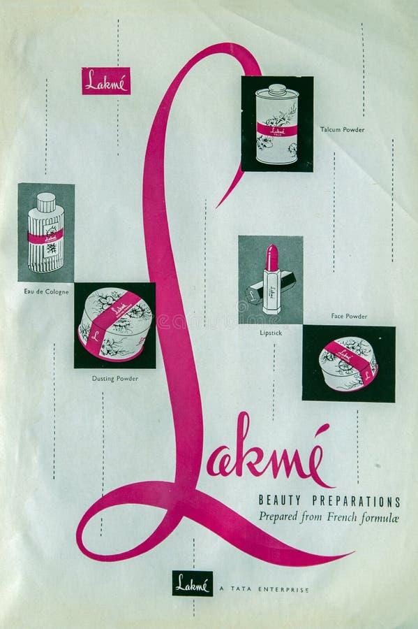 Vintage Fashion Magazine Reklama produktów piękności indii studio nakręciło kalyana maharashtrę obraz royalty free
