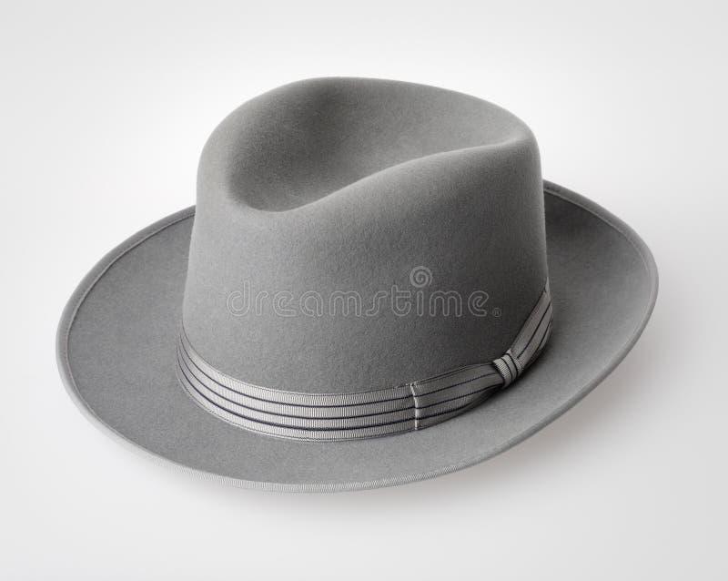 Vintage felt hat stock photo