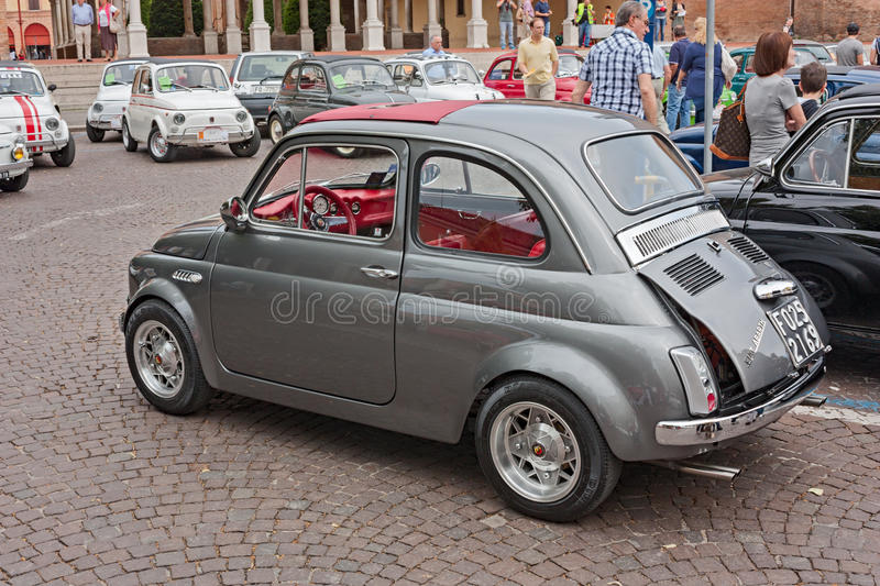 vintage fiat 500 abarth editorial stock photo image of race 28862288. Black Bedroom Furniture Sets. Home Design Ideas
