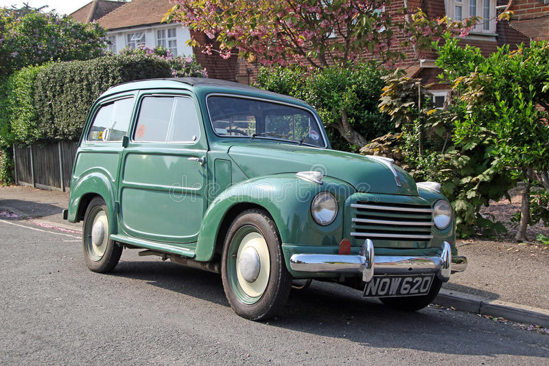 Vintage fiat 500 belvedere. Photo of a 1940/50 vintage fiat 500 belvedere van parked in a kent street. photo ideal for vintage transport,travel etc stock photo