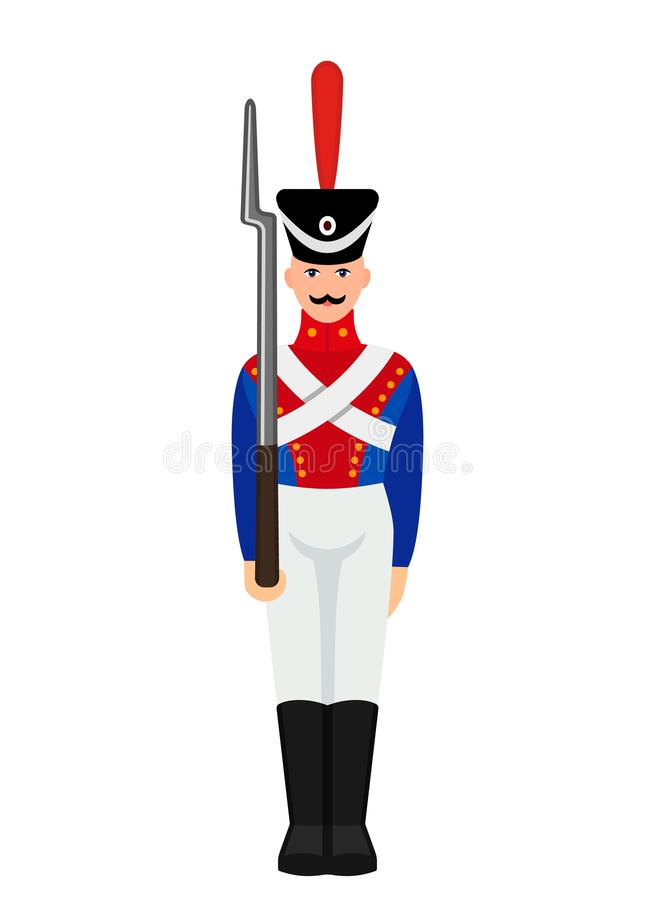 Free Vintage Figure Of A Military Tin Soldier. Retro Toy. Flat Vector Illustration Stock Photo - 151097600